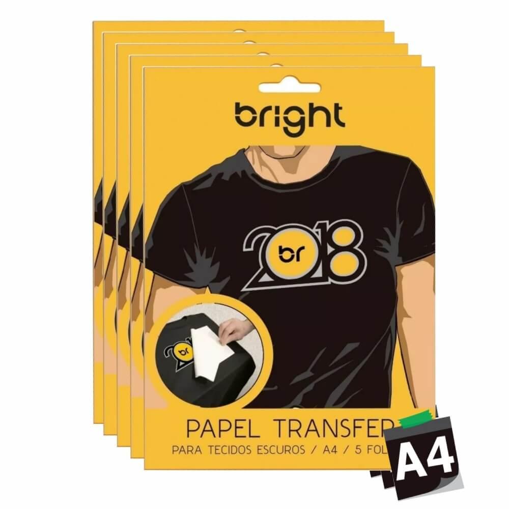 Papel Transfer Para Camisetas A4 Tecidos Escuros Bright 50fls