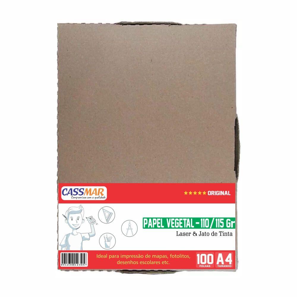 Papel Vegetal A4 210x297mm 110-115g Caixa Com 100 Folhas