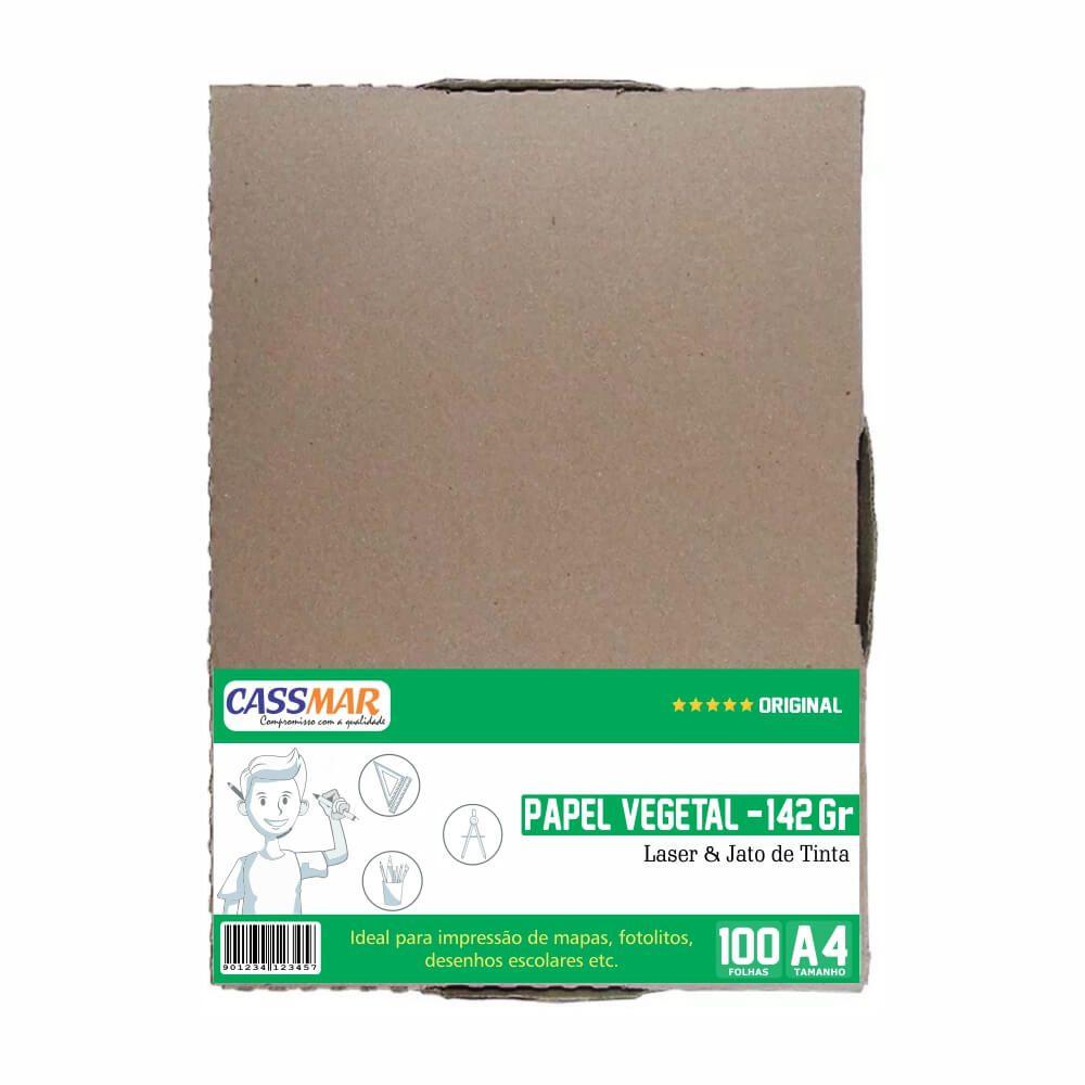 Papel Vegetal A4 210x297mm 142g  Caixa Com 100 Folhas
