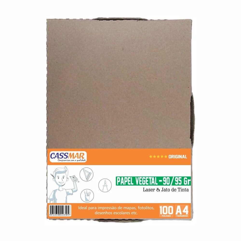 Papel Vegetal A4 210x297mm 90-95g Caixa Com 100 Folhas