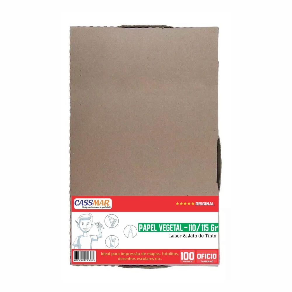 Papel Vegetal Ofício 216x355mm 110/115g 100 folhas