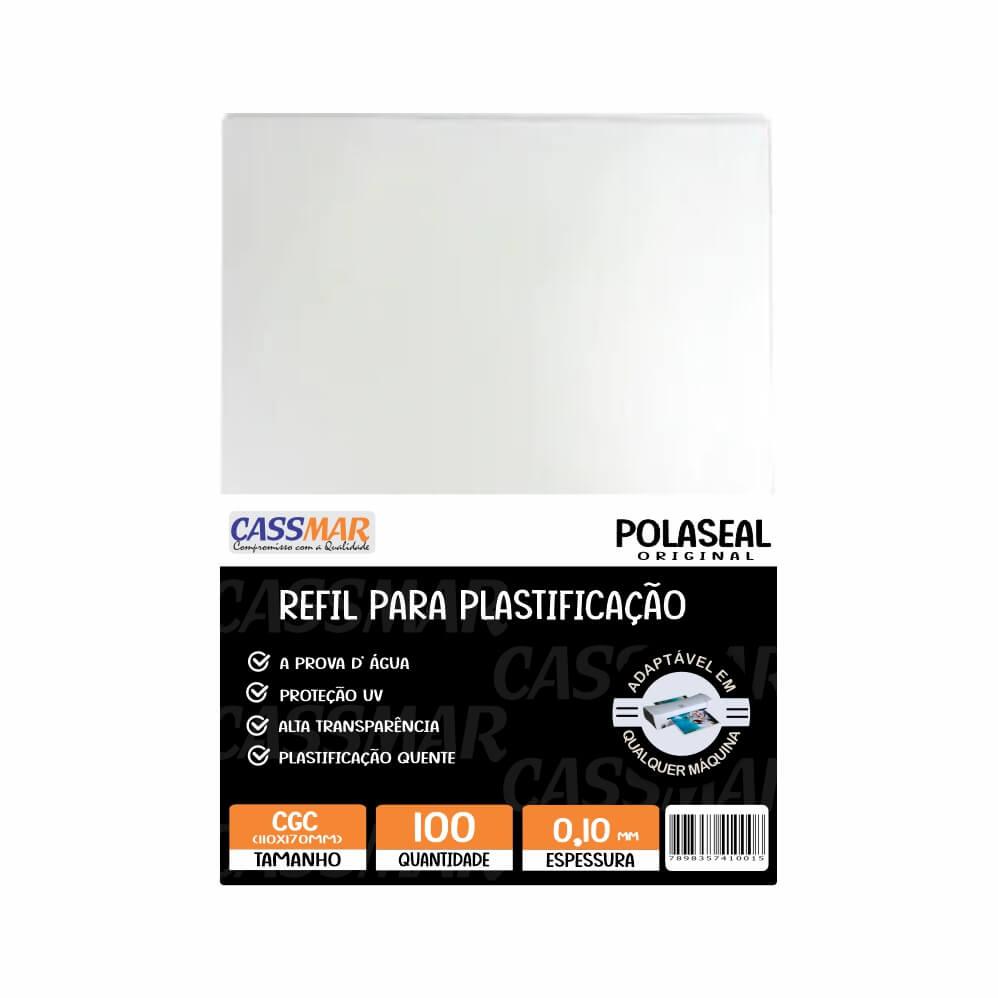 Plástico para Plastificação CGC 110x170x0,10 100un