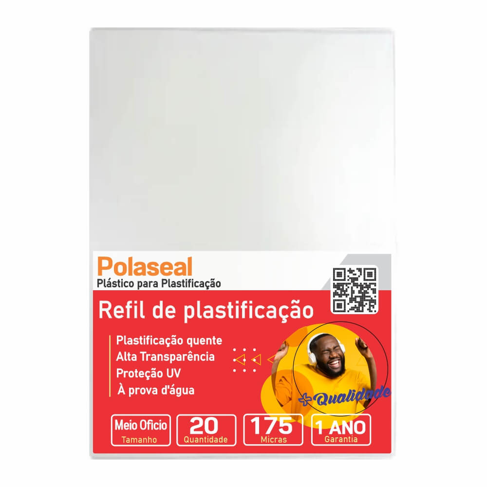 Polaseal Para Plastificação Meio Ofício 170x226x0,07 20un