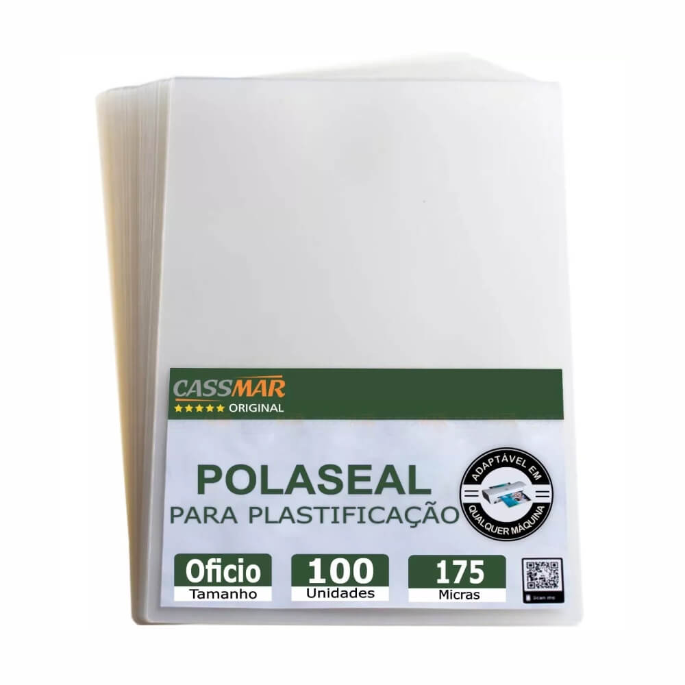 Polaseal para Plastificação Ofício 226x340x0,07mm 100un
