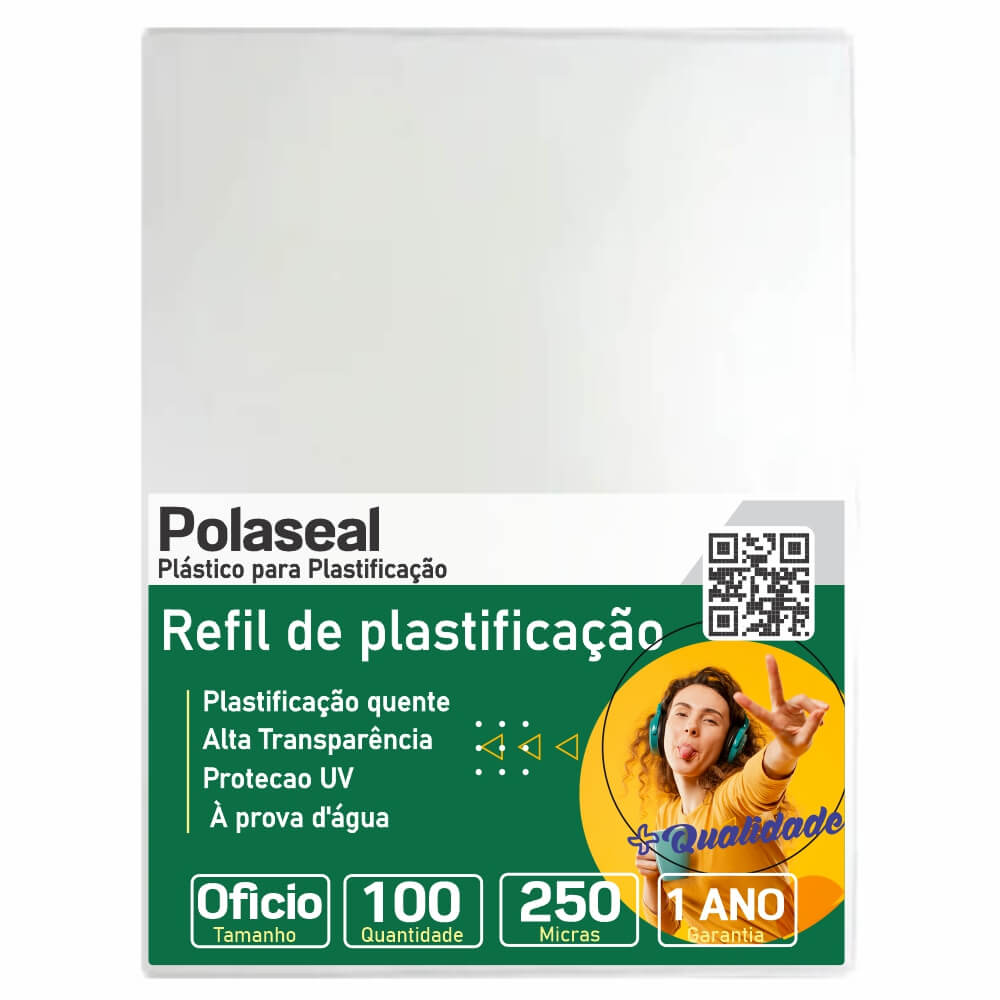Polaseal para Plastificação Ofício 226x340x0,10mm 100un
