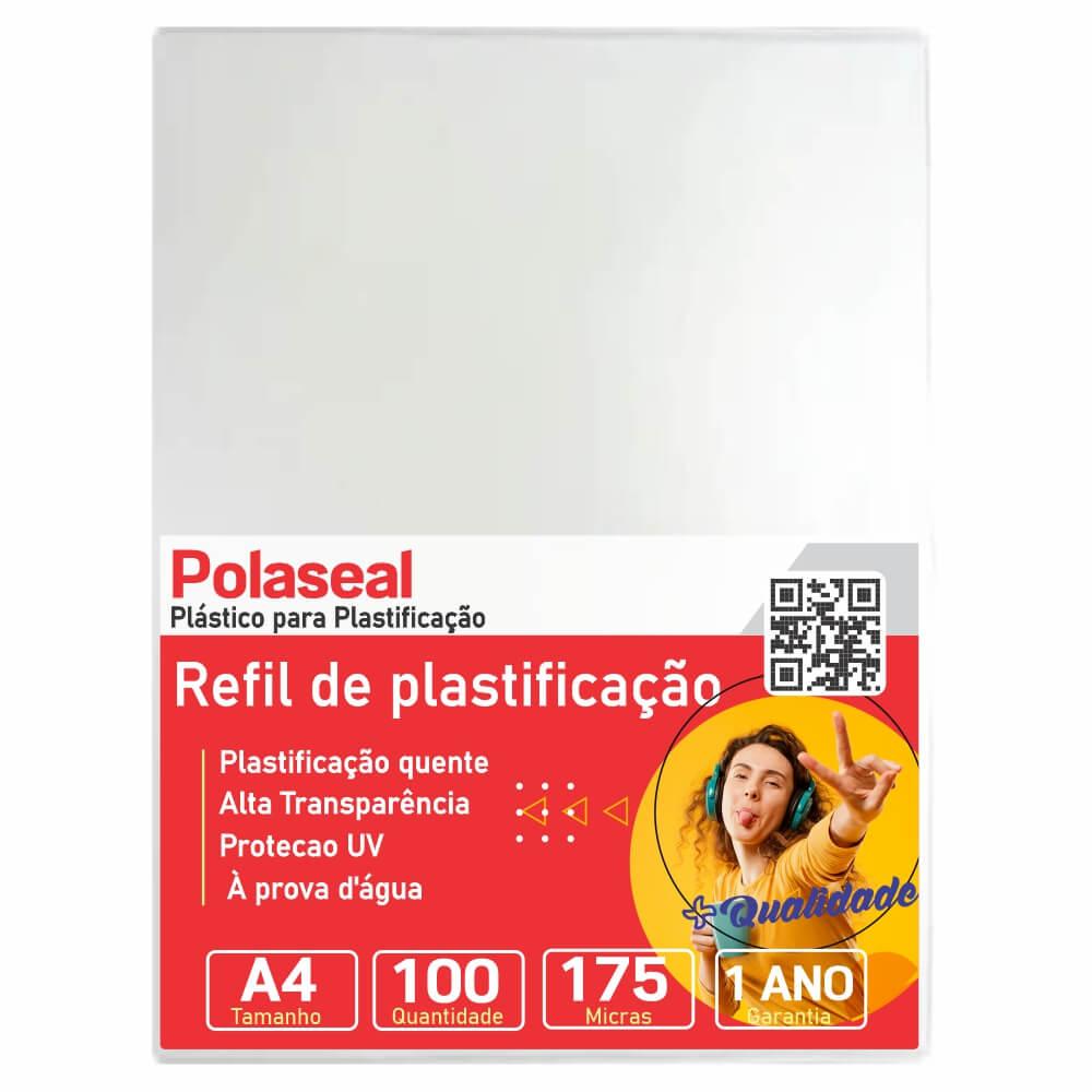 Polaseal Plástico para Plastificação A4 220x307x0,07mm 100un