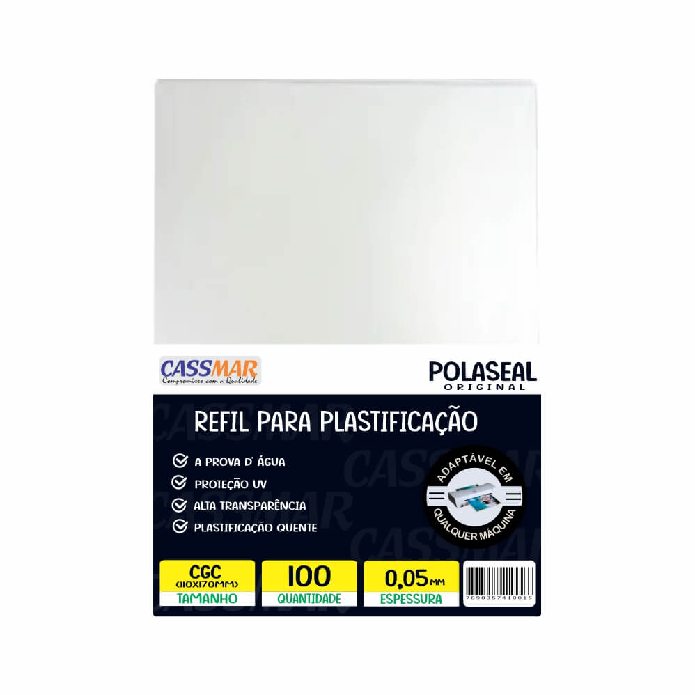 Polaseal Plástico Para Plastificação CGC 110X170X0,05 100UN
