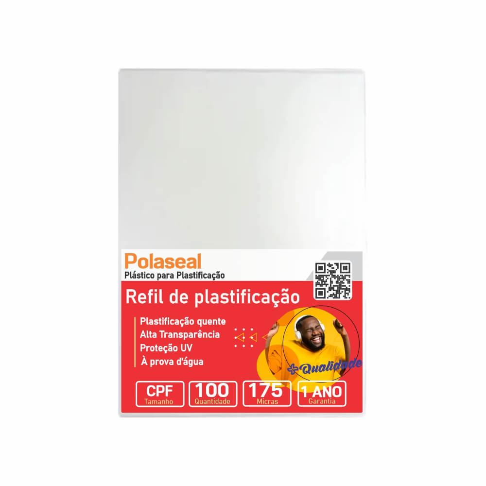 Polaseal Plástico para Plastificação CPF 66x99x0,07mm 100un