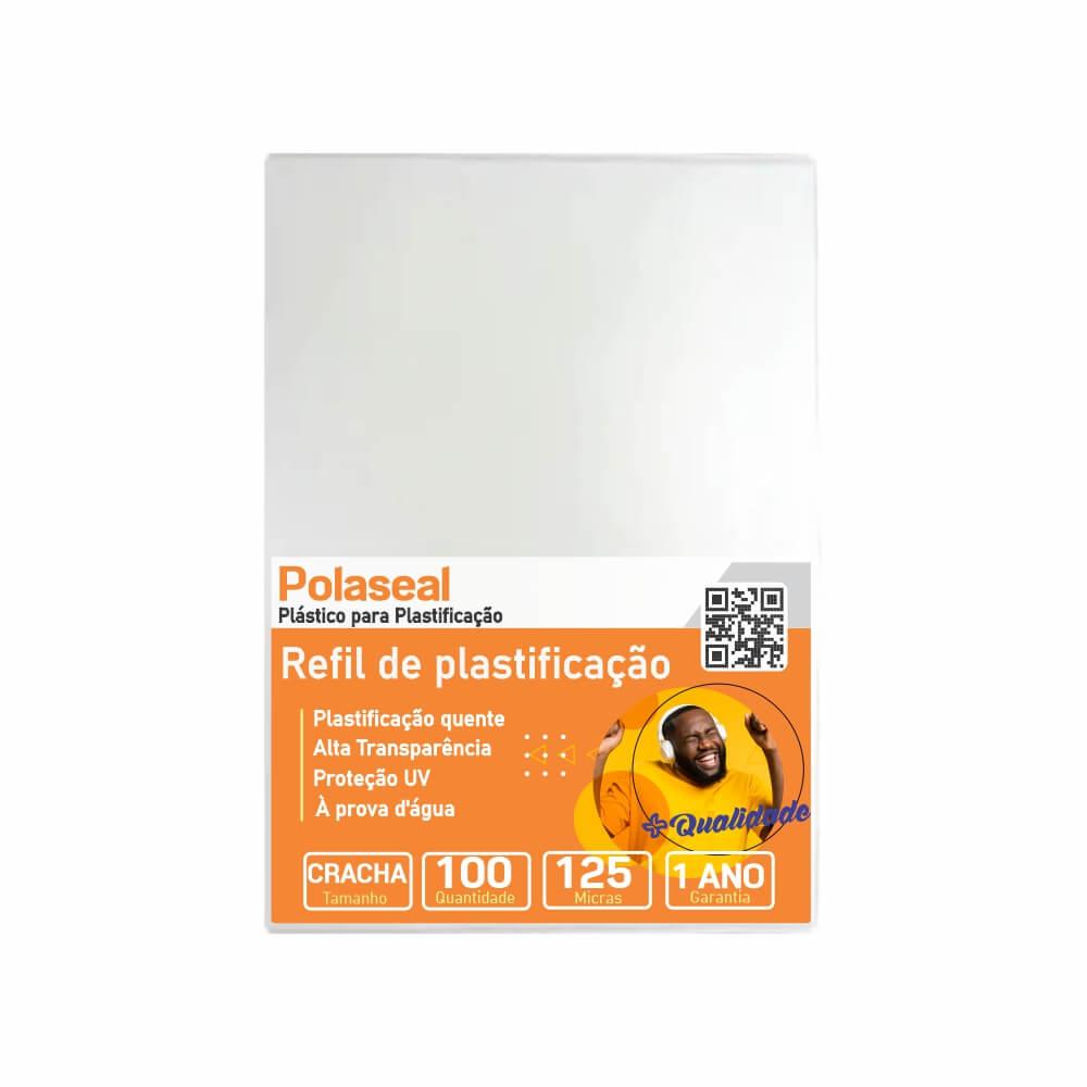 Polaseal Plástico para Plastificação Crachá 59x86x0,05 100un