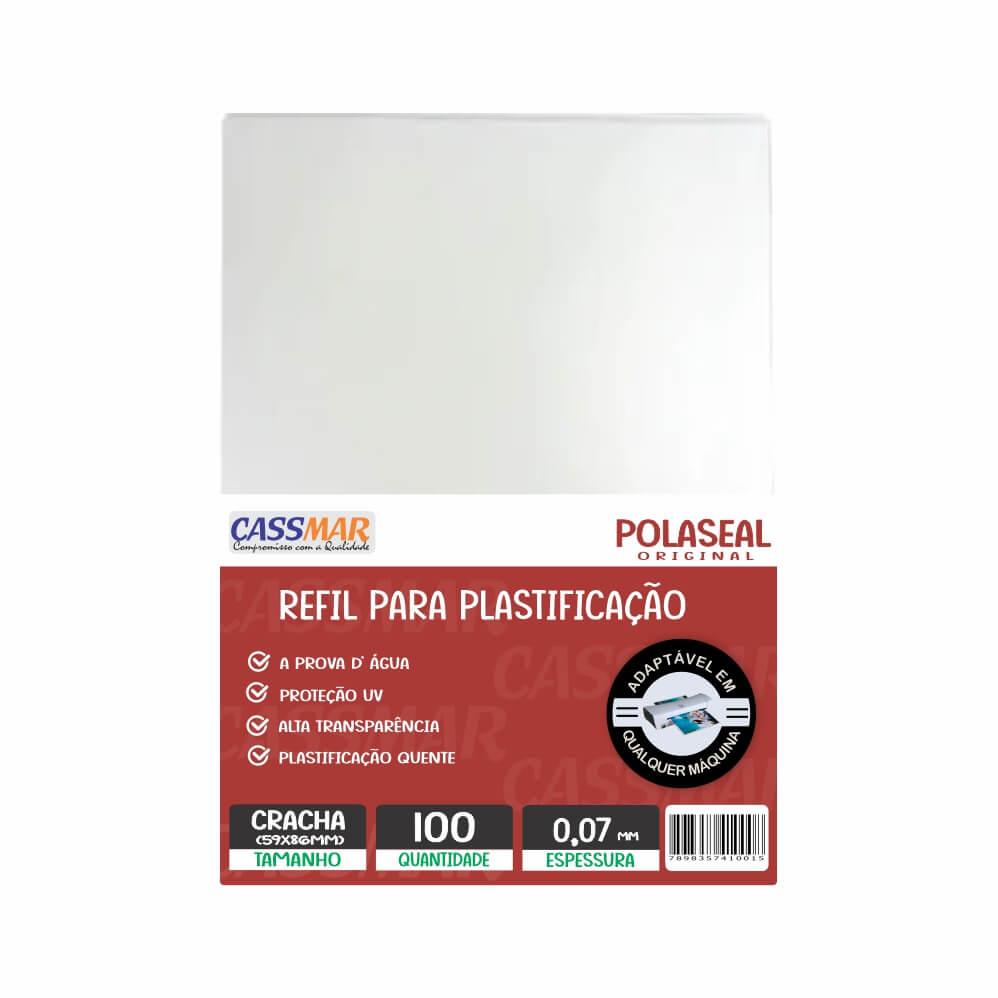 Polaseal Plástico para Plastificação Crachá 59x86x0,07 100un