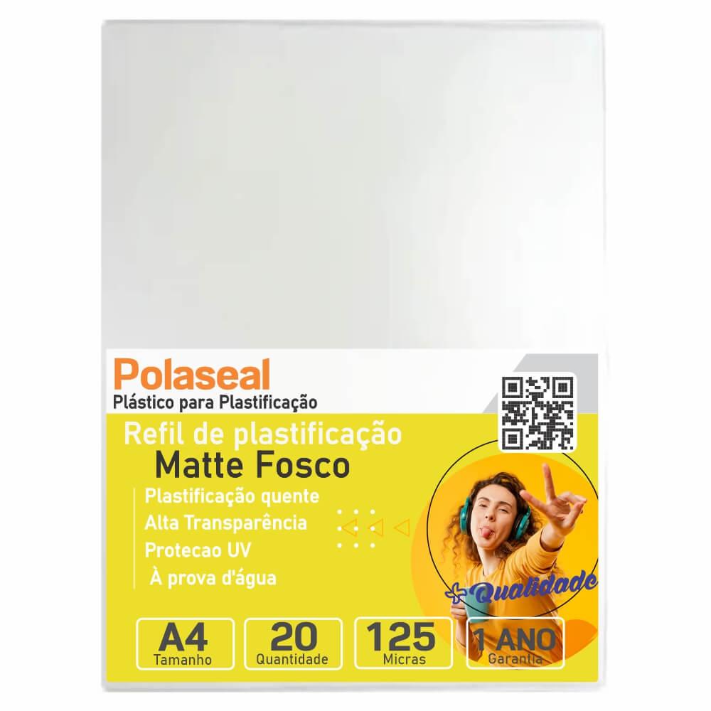 Polaseal Plástico Para Plastificação Fosco A4 0,05mm 20un