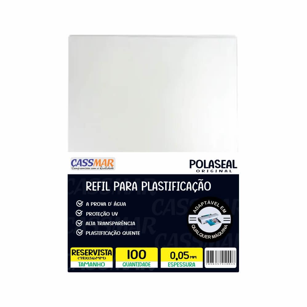 Polaseal Plástico para Plastificação Reservista 98x136x0,05mm