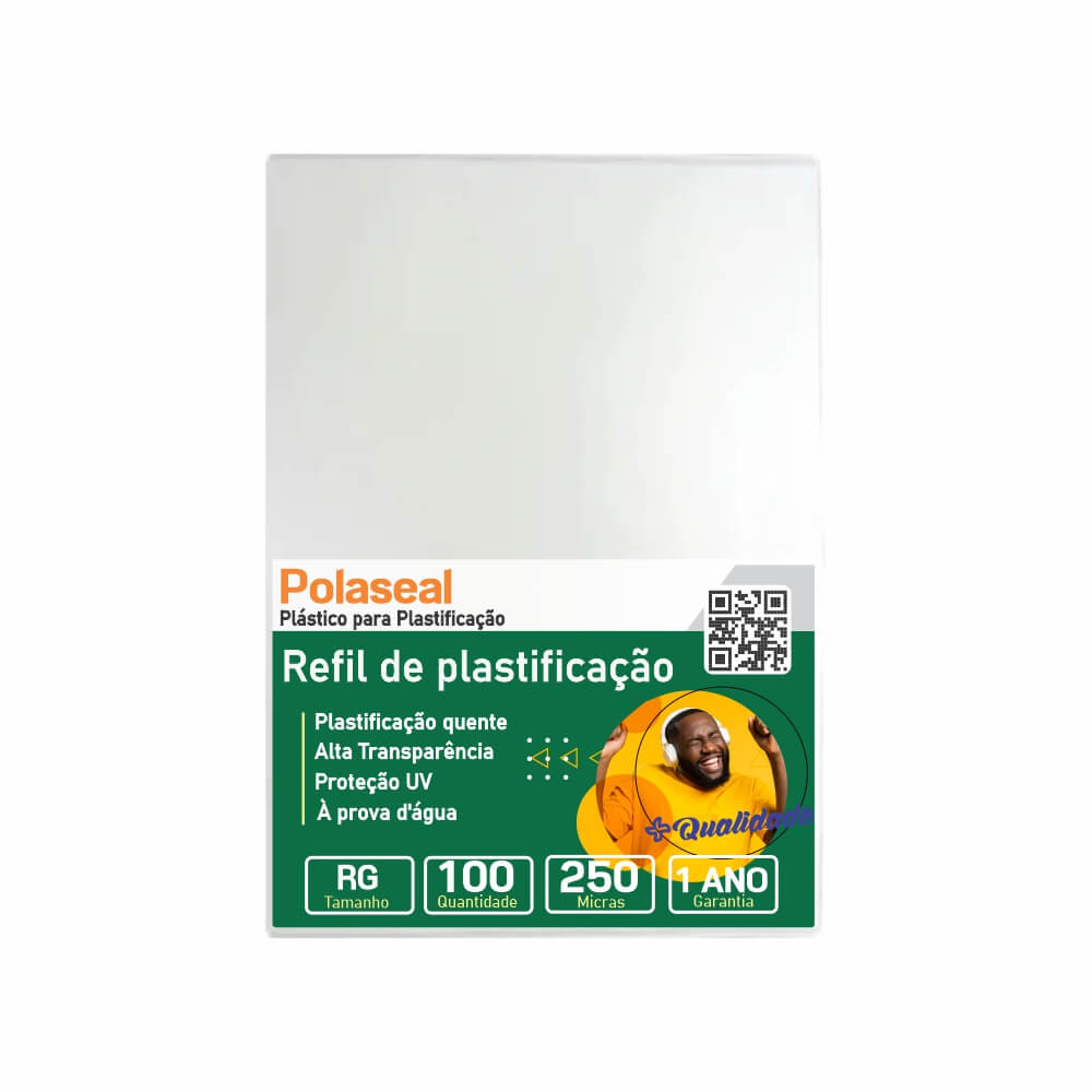 Polaseal Plástico para Plastificação RG 80x110x0,10mm 100un