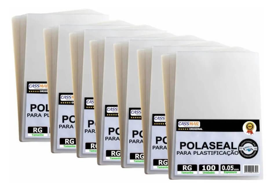 Polaseal Rg 1500un Plástico Para Plastificação 0,05 125mic
