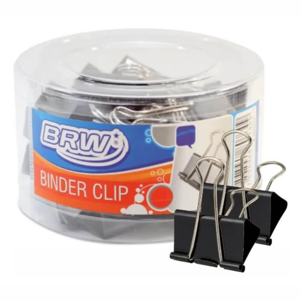 Prendedor de papel Binder Clip 25mm BRW caixa com 48un