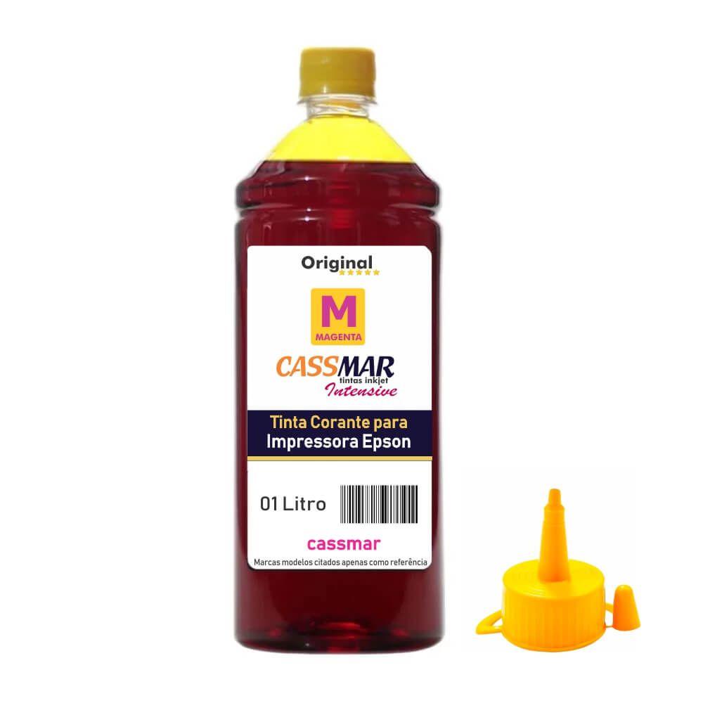 Tinta De Impressora Compatível Epson L355 L365 L375 L395 Cassmar Yellow 01 Litro