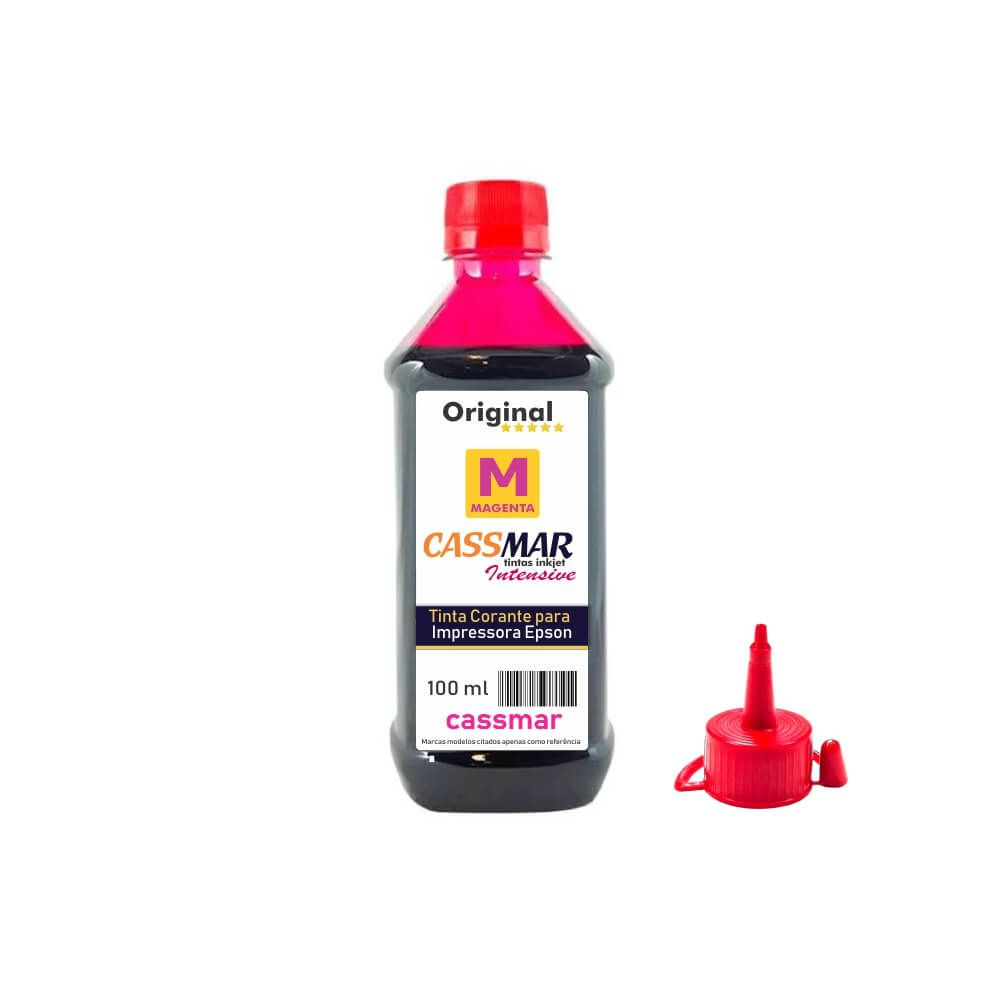 Tinta de impressora Compatível Epson L355 L365 L375 L395 Magenta 100ml