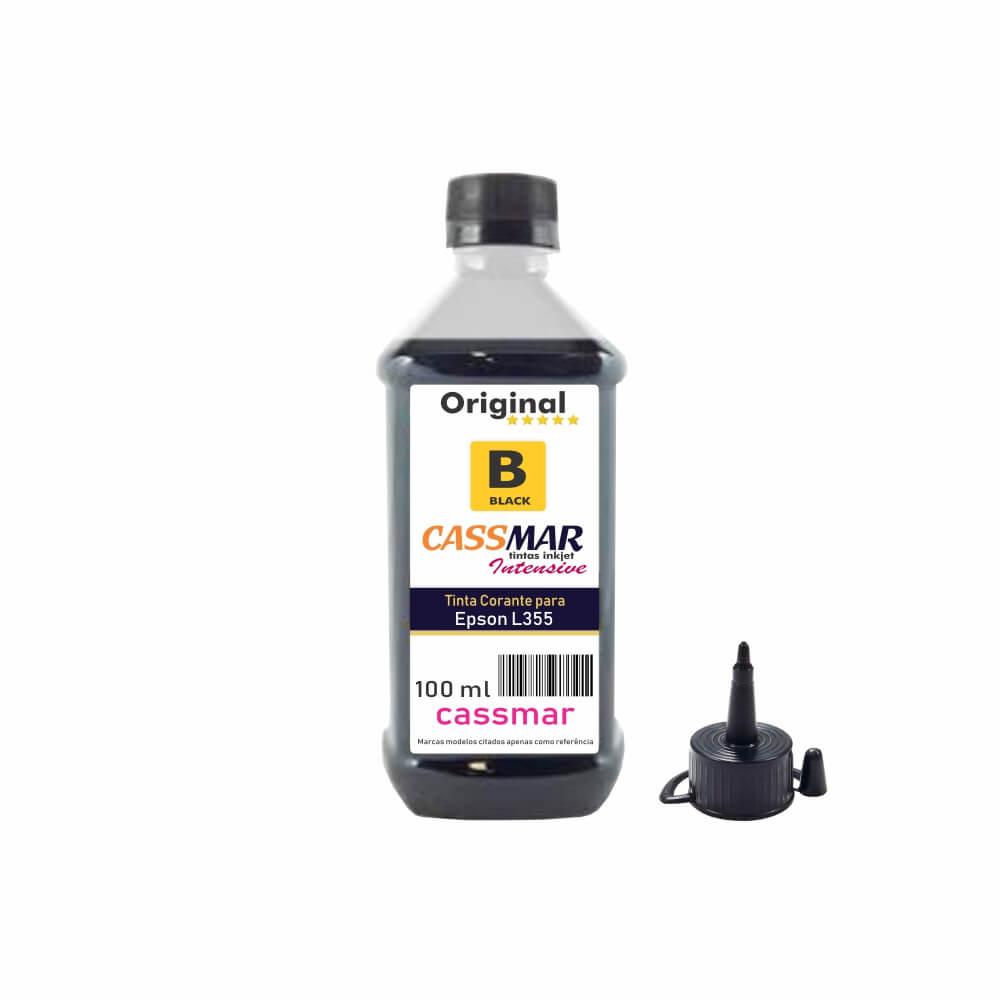 Tinta impressora Epson L355 Econômica Black Cassmar 100ml