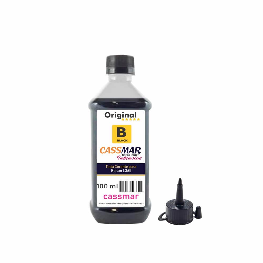 Tinta impressora Epson L365 Econômica Black Cassmar 100ml