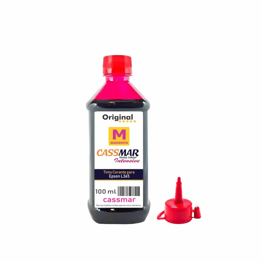 Tinta impressora Epson L365 Econômica Magenta Cassmar 100ml