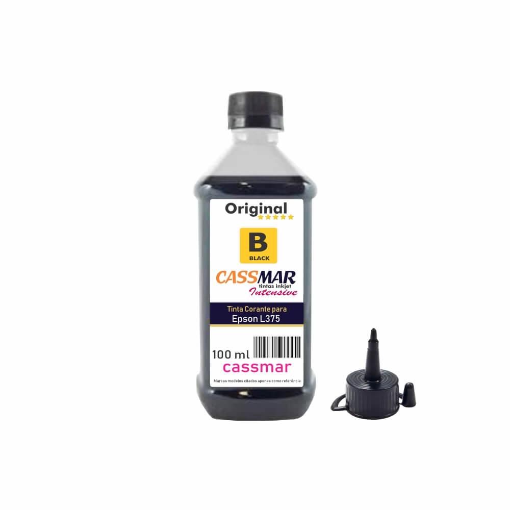 Tinta impressora Epson L375 Econômica Black Cassmar 100ml