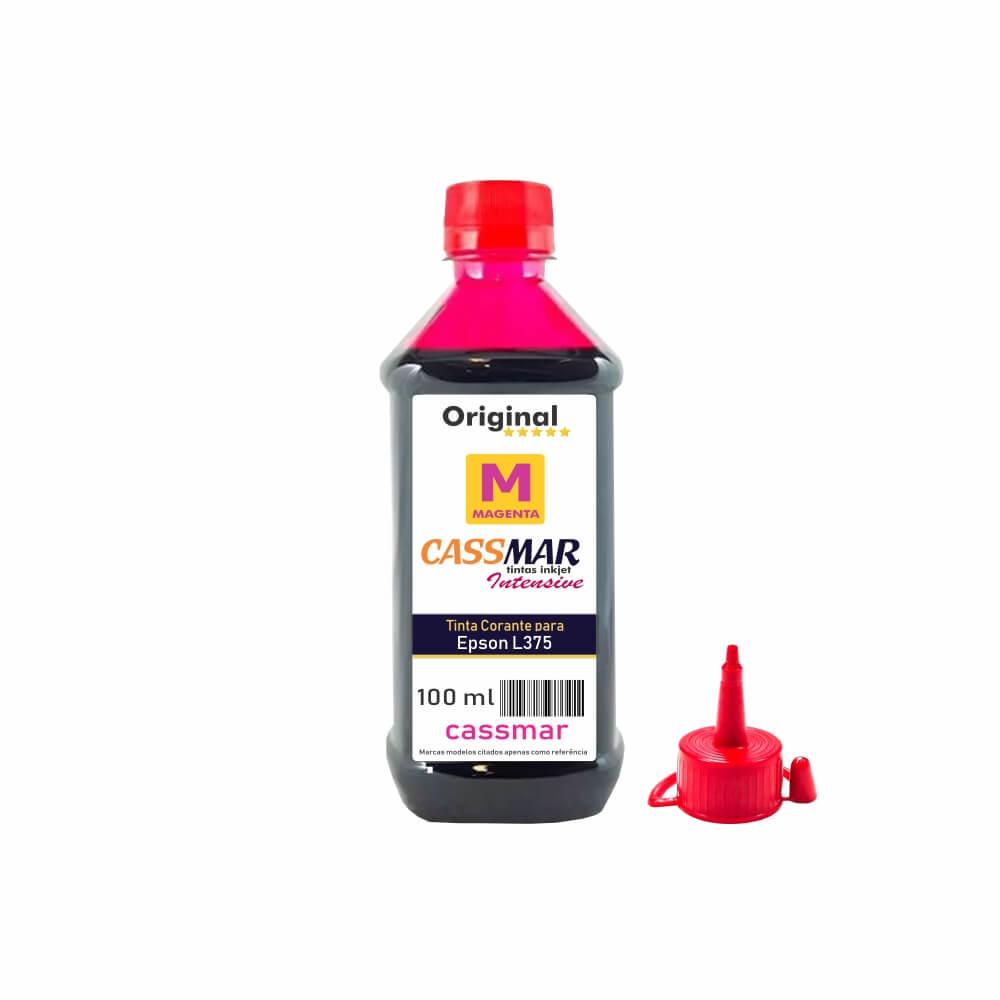 Tinta impressora Epson L375 Econômica Magenta Cassmar 100ml