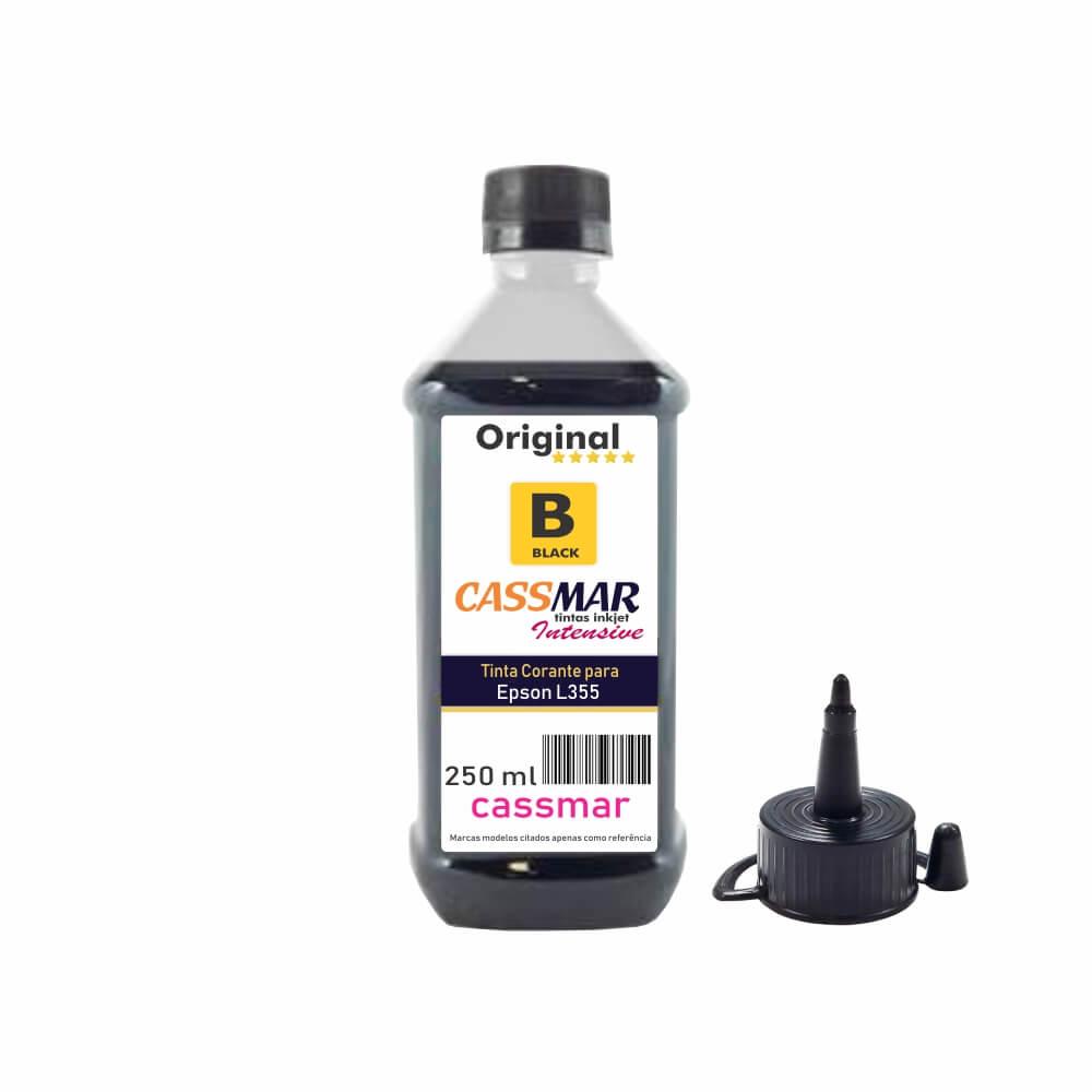 Tinta para Epson L355 Tanque Econômica Black Cassmar 250ml