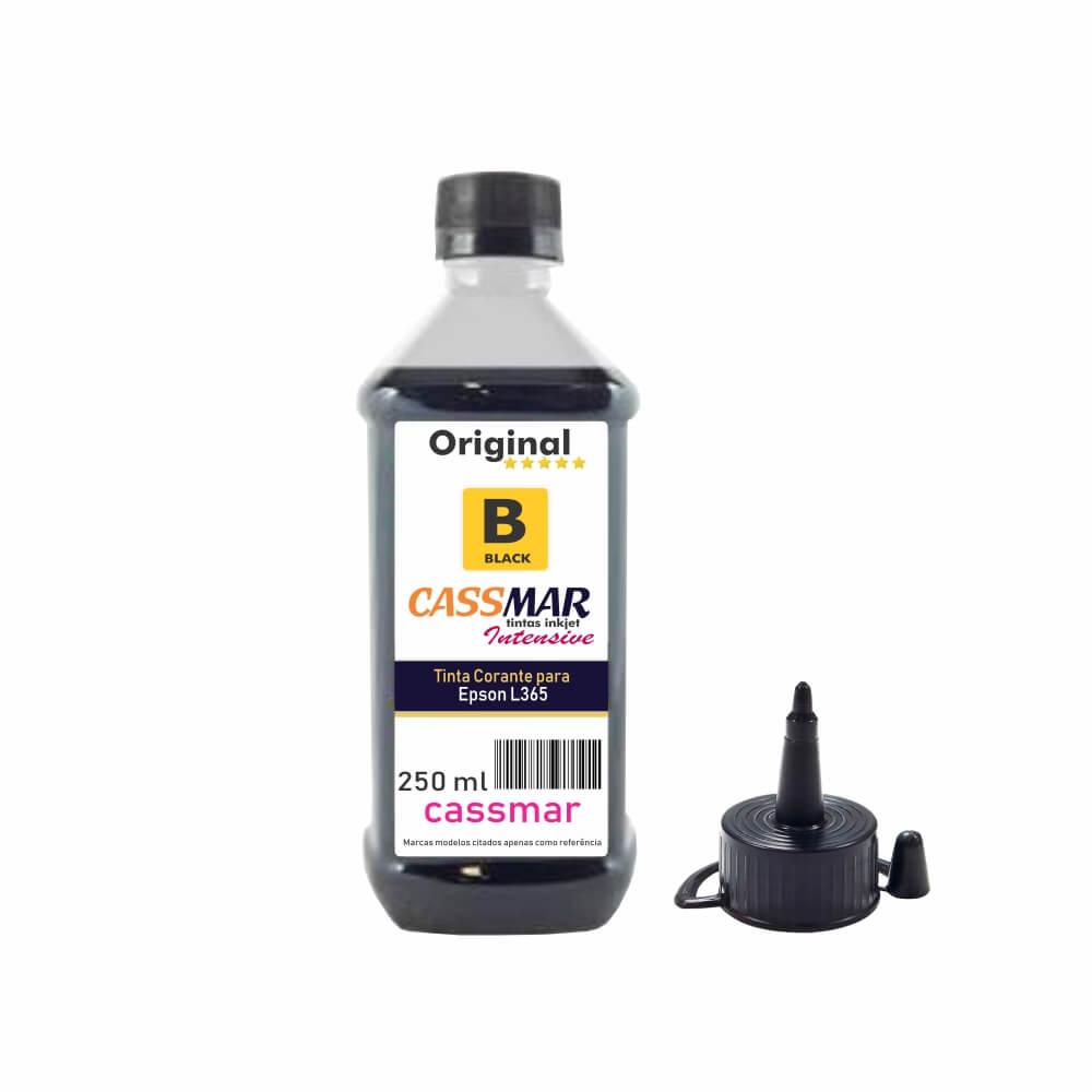 Tinta para Epson L365 Tanque Econômica Black Cassmar 250ml