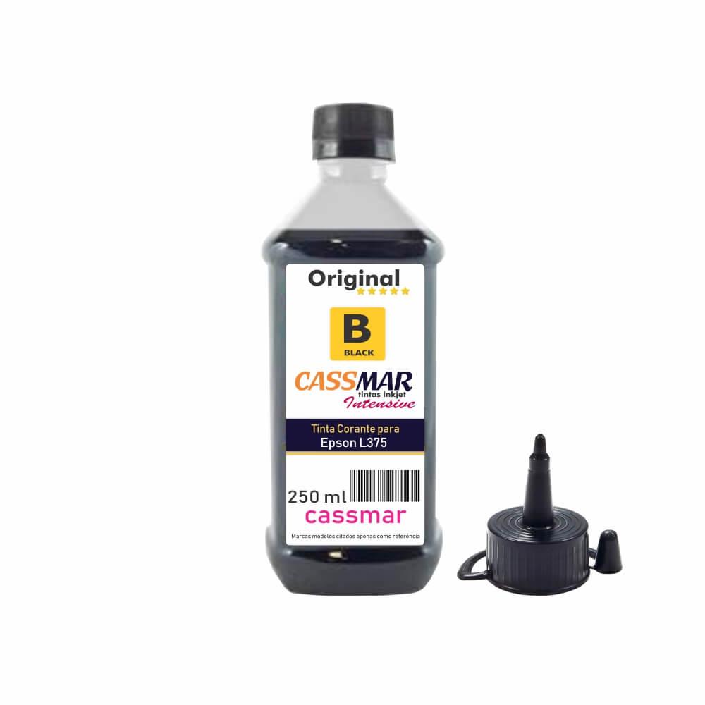 Tinta para Epson L375 Tanque Econômica Black Cassmar 250ml