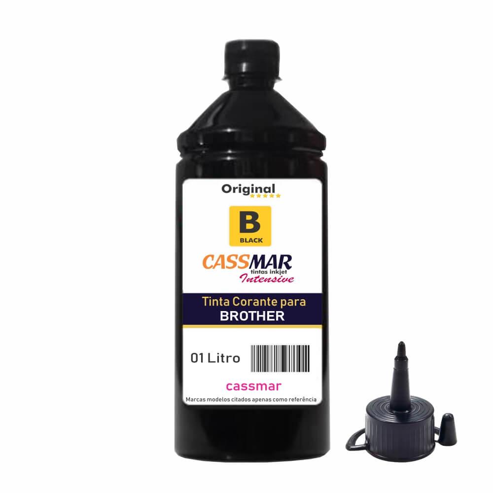 Tinta para Impressora Brother Compatível Black Cassmar 1Litro
