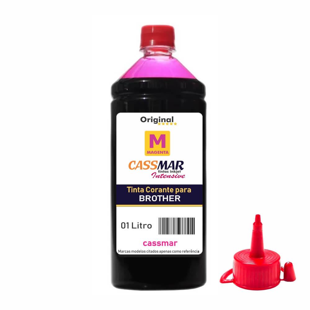 Tinta para Impressora Brother Compatível Magenta Cassmar 1 Litro