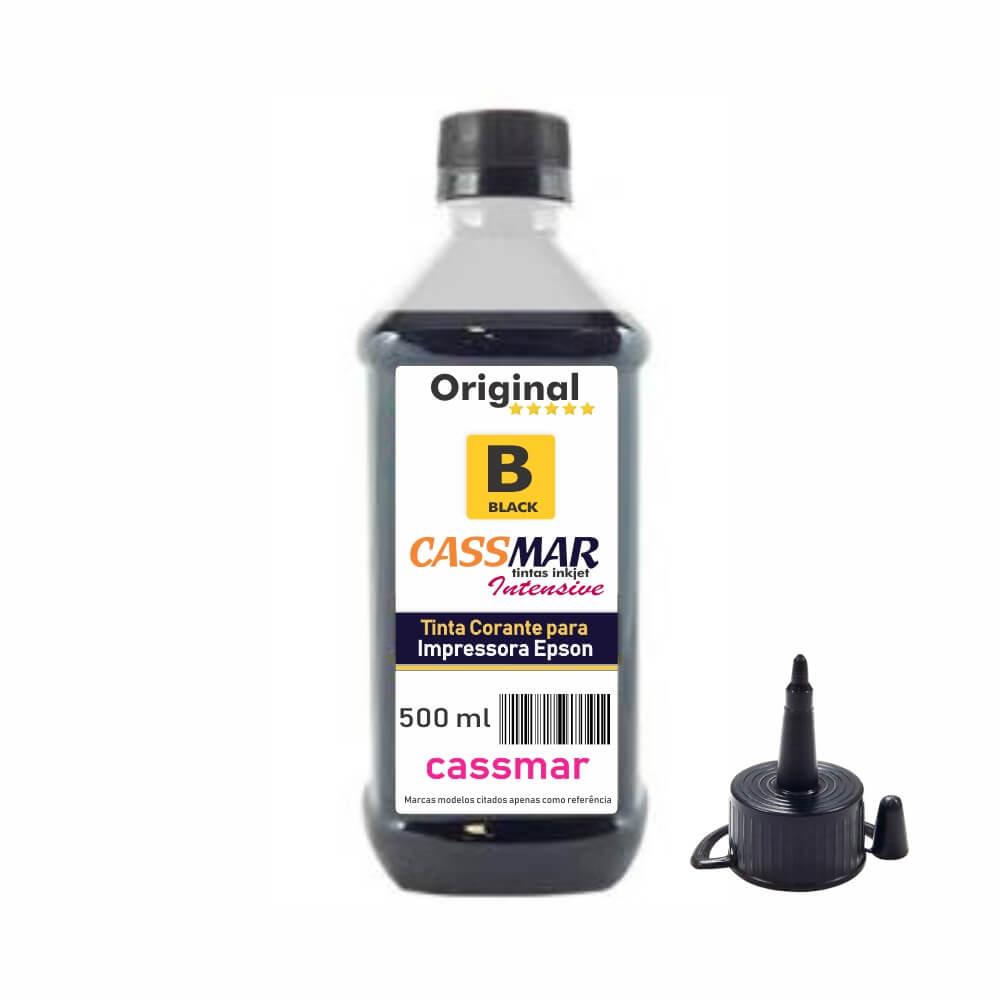 Tinta de impressora Compatível Epson L355 L365 L375 L395 Black Cassmar 500ml