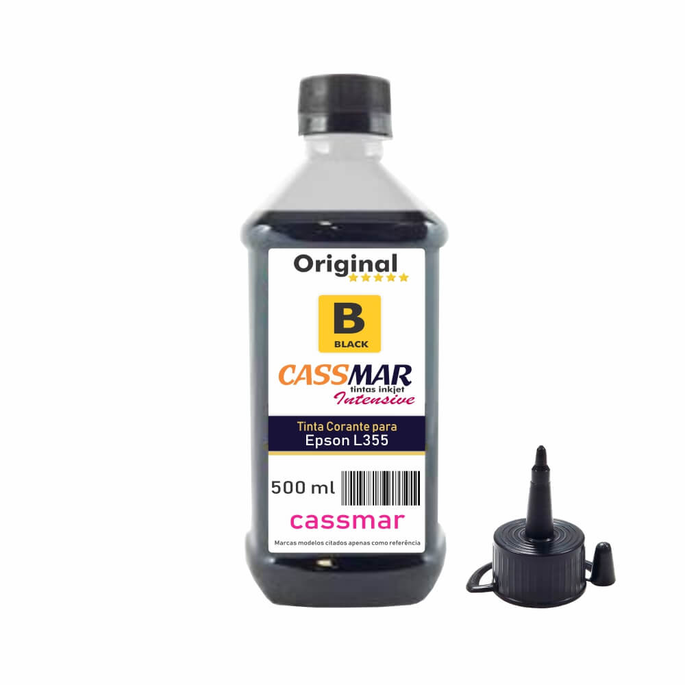 Tinta para Impressora Epson L355 Eco Black Cassmar 500ml