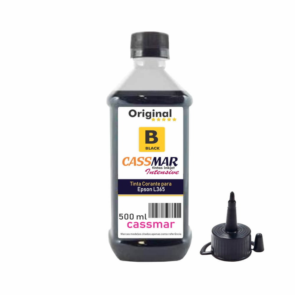 Tinta para Impressora Epson L365 Eco Black Cassmar 500ml