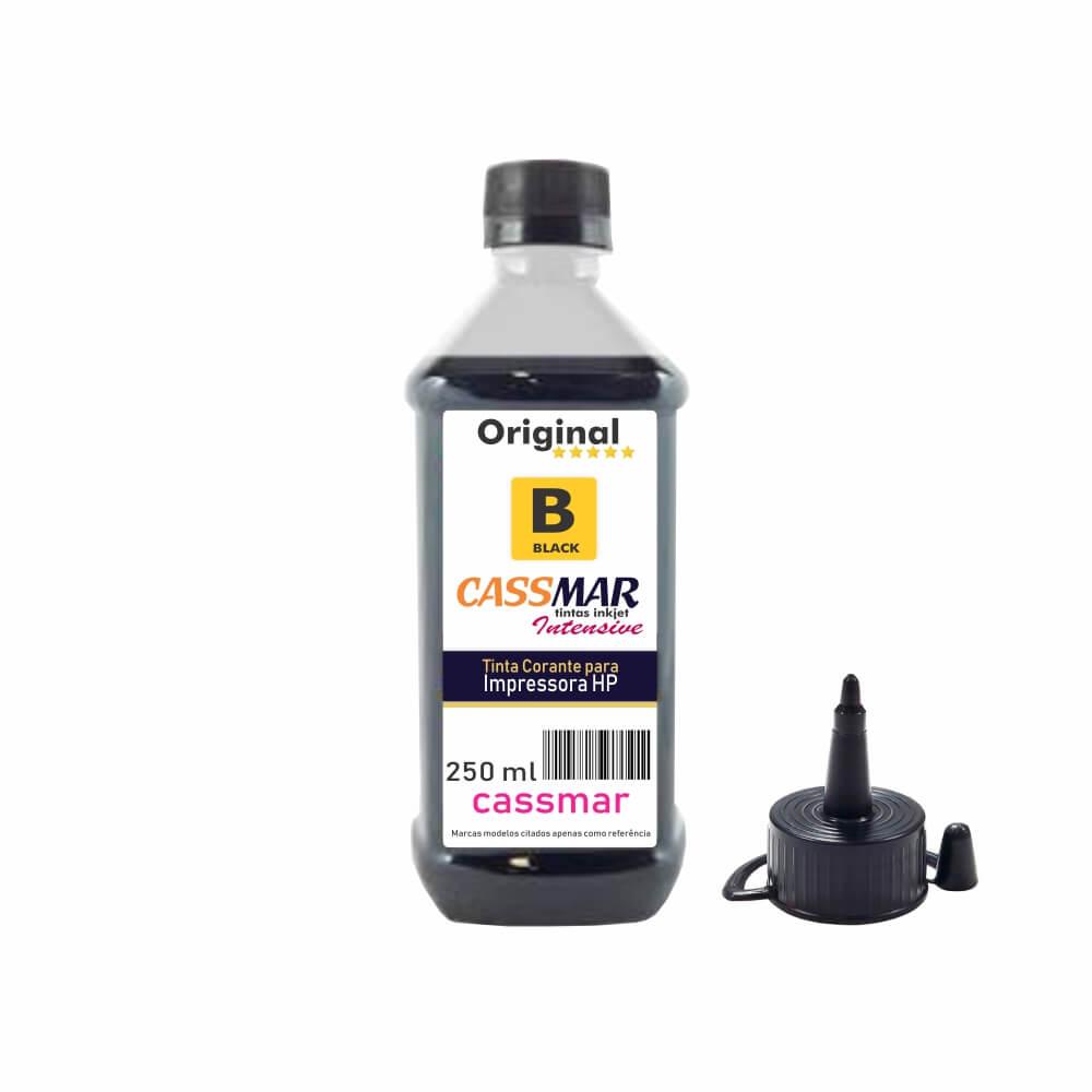 Tinta para impressora HP Black Compatível Cassmar 250ml