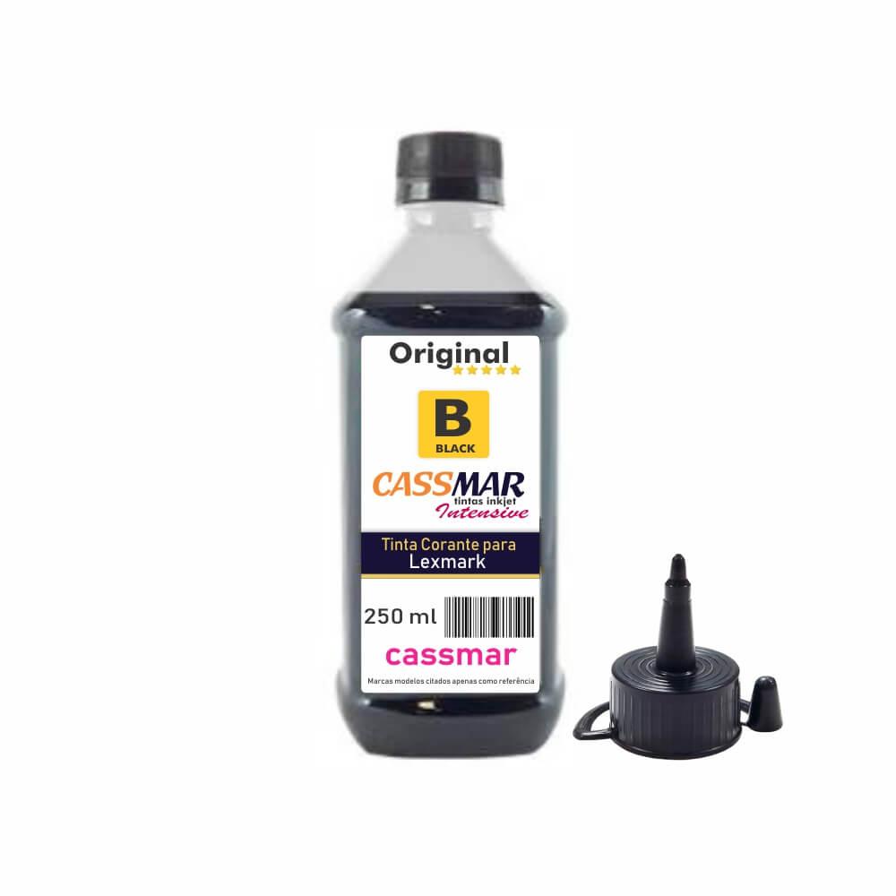 Tinta para impressora Lexmark Compatível Cassmar Black 250ml