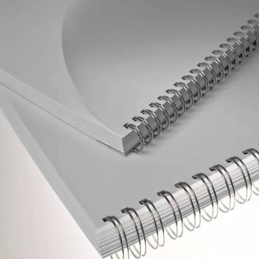 Wire-o para Encadernação 2x1 A4 Prata 3/4 para 140 fls 50un