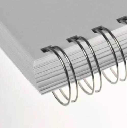 Wire-o Para Encadernação 2x1 A4 Prata 3/4 Para 140fls 25un