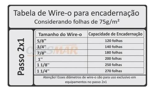 Wire-o Para Encadernação 2x1 A4 Prata 5/8 Para 120fls 25 Un