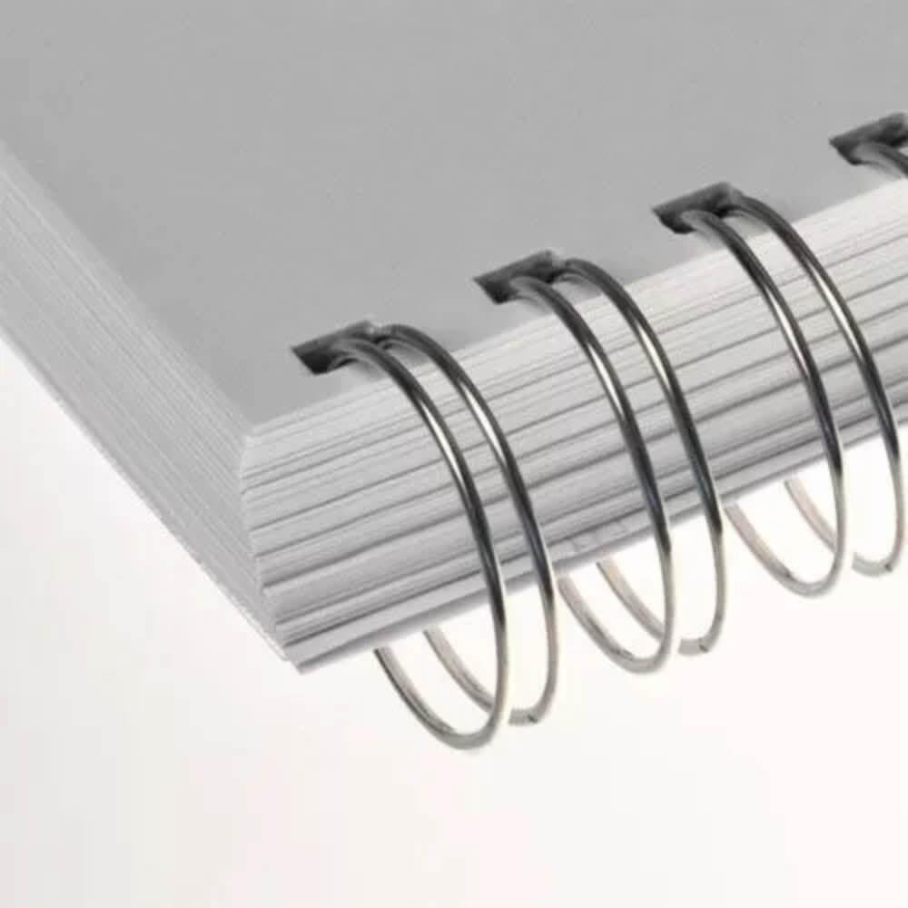 Wire-o para Encadernação 3x1 A4 Prata 7/16 para 85fls 100un