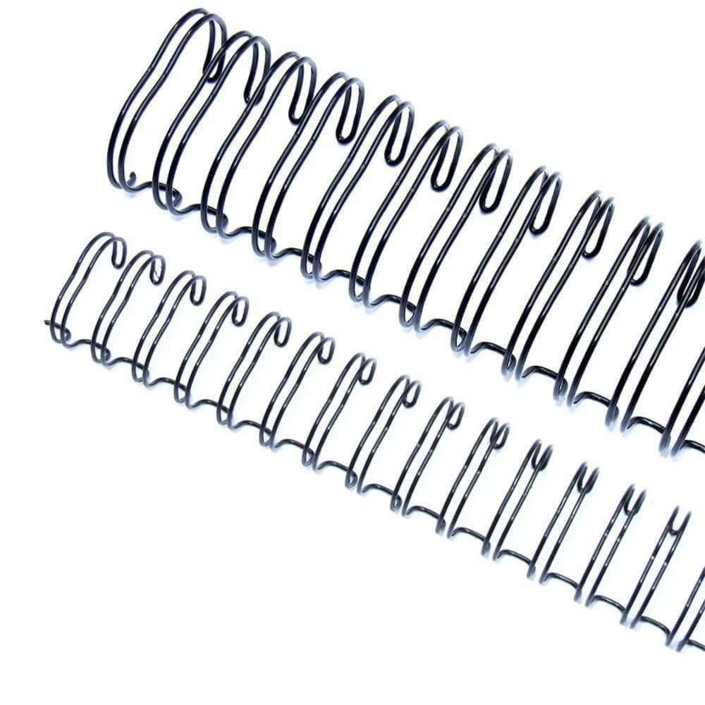 Wire-o para Encadernação 3x1 A4 Preto 9/16 até 110fls 100un