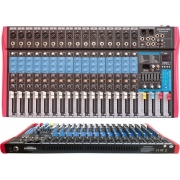 MESA DE SOM SOUNDVOICE MS162 EUX 16 CANAIS USB BLUETOOTH PHANTOM EFEITO EQ