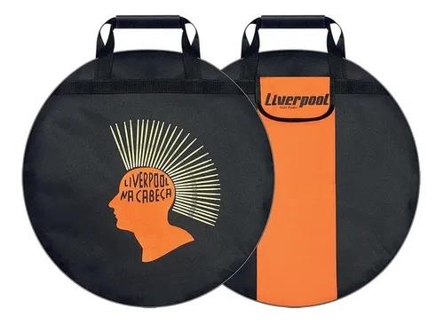 """Capa Bag Estojo Mochila Para Pratos Bateria Luxo Liverpool 21"""""""