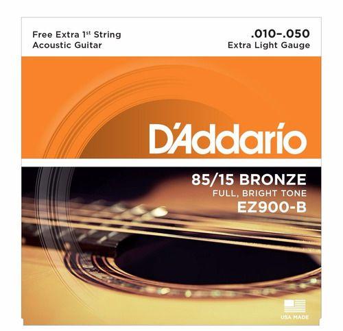 Encordoamento Aço Violão D'addario 010 Profissional Bronze