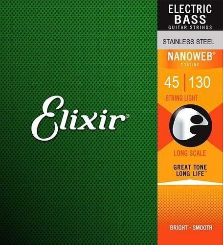 Encordoamento Jogo Corda Elixir 045 Para Baixo 5 Cordas