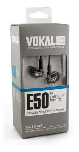 Fone Ponto Monitor Retorno De Ouvido Vokal E50 In Ear