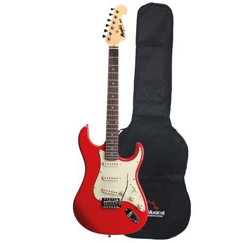 Guitarra Tagima Memphis Stratocaster Strato Mg32 Capa Barata