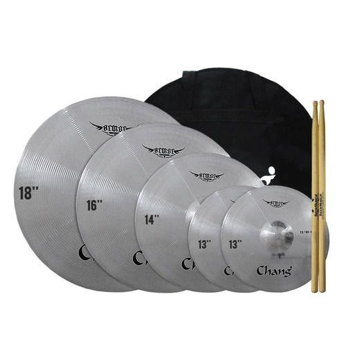 Jogo Set Pratos Bateria Chang 13 14 16 18 Barato Capa Bag