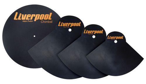 Kit Abafador De Pratos Bateria 14 16 20 Liverpool