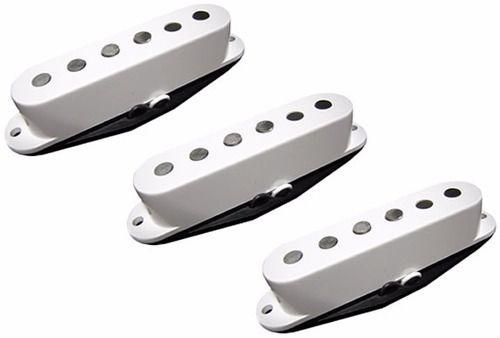 Kit Captador Single Coil Guitarra Strato Barato Branco